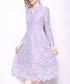Lilac lace keyhole midi dress Sale - Kaimilan Sale