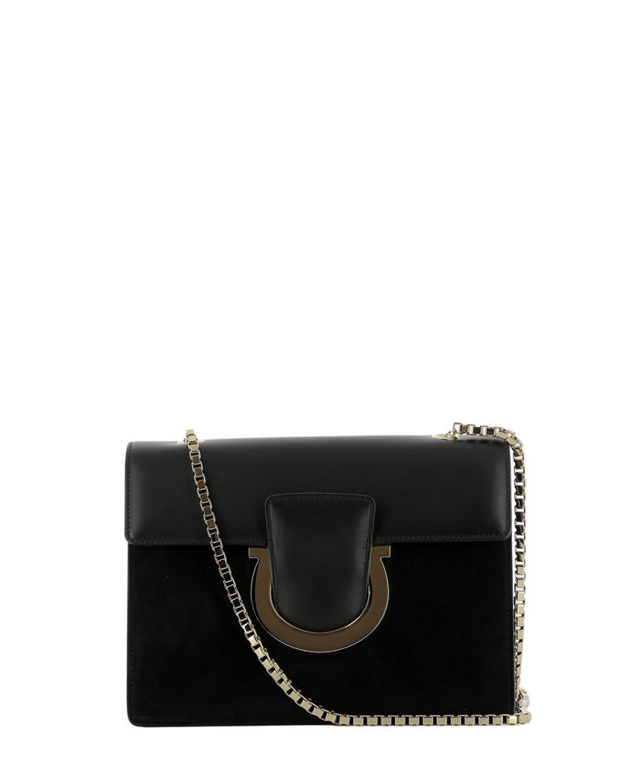 Thalia Black suede shoulder bag Sale - salvatore ferragamo