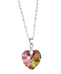 Kaleidoscopic crystal heart pendant