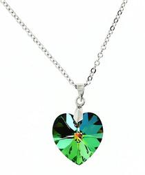 Kaleidoscopic crystal heart pendant