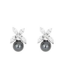 Black pearl & Swarovski crystal earrings