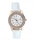 24k Rose-gold plated crystal watch Sale - orcea Sale