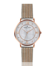 Liskamm dual-tone steel mesh watch