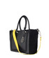 The Johansson black leather & suede tote Sale - Amanda Wakeley Sale