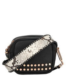 The Stud Bowie black leather crossbody