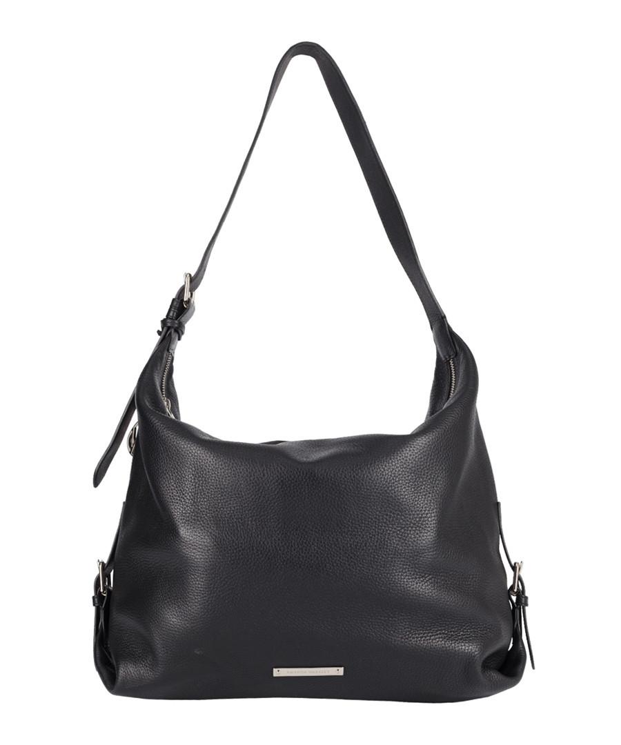 The Costner black leather slouch bag Sale - Amanda Wakeley