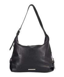 The Costner black leather slouch bag