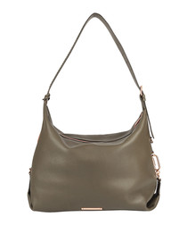 The Costner taupe leather slouch bag