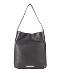 The Midi Jovi black leather shoulder bag