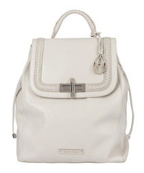 The Elba chalk leather braid backpack