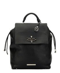 The Elba black leather backpack
