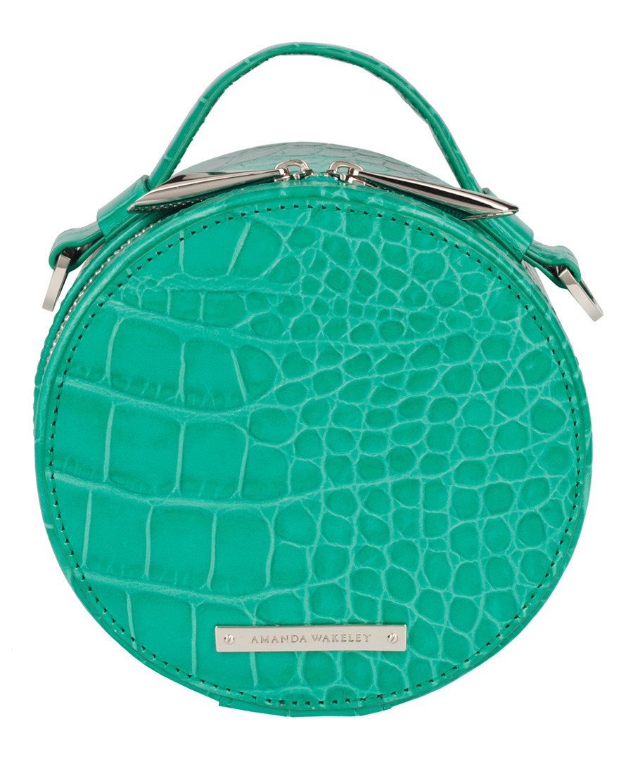 The Ross aqua leather jewellery case Sale - Amanda Wakeley