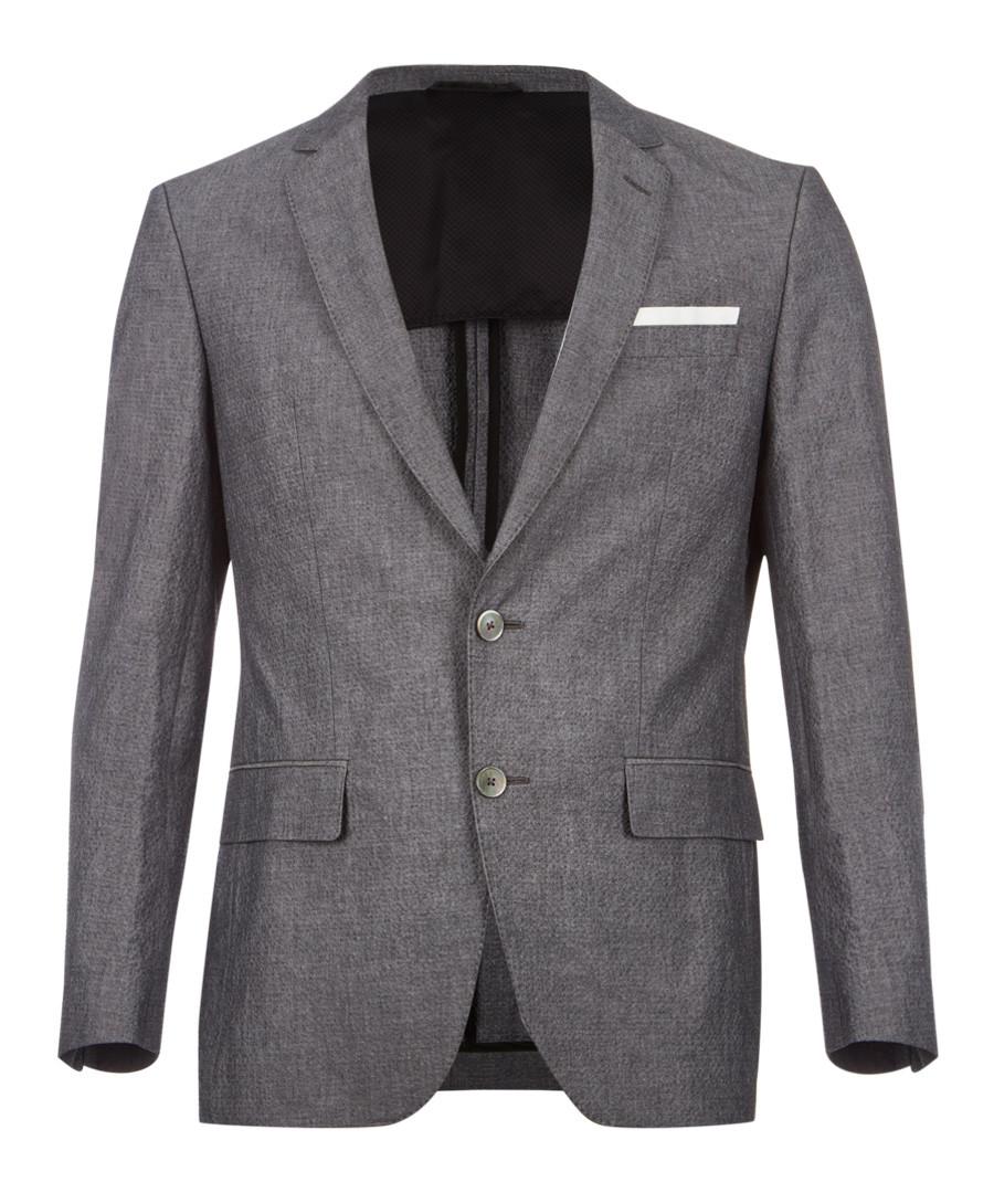 Grey cotton two-button blazer Sale - hugo boss