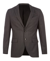 Johnston/Lenon charcoal pure virgin wool