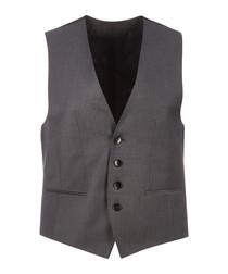 Wilson grey virgin wool blend waistcoat