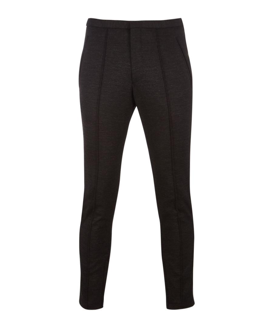 Brio charcoal wool blend slim trousers Sale - hugo boss