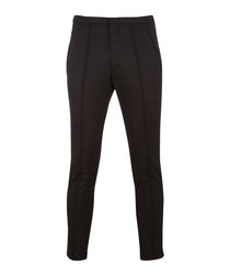 Brio charcoal wool blend slim trousers