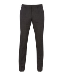 Genesis charcoal pure wool slim trousers