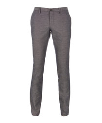 Stanino grey pure cotton slim chinos
