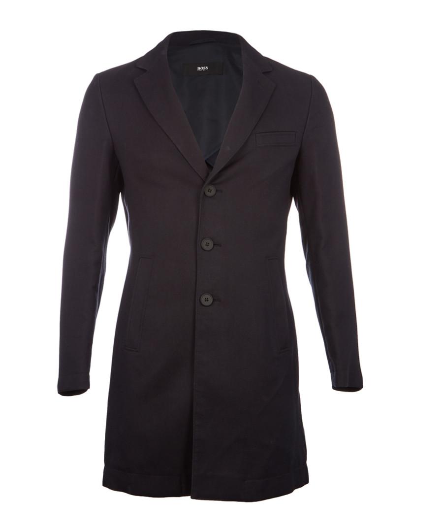 Steven midnight cotton blend greatcoat Sale - hugo boss