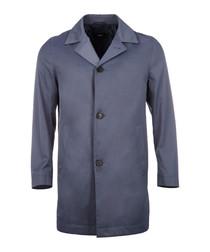 Dais pewter cotton blend slim coat