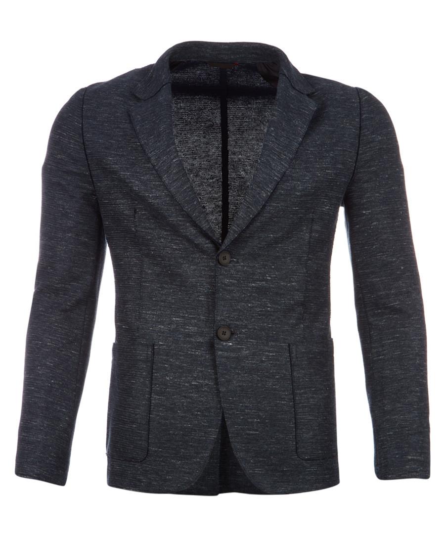 Agalto pewter cotton & linen blazer Sale - hugo boss