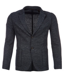 Agalto pewter cotton & linen blazer