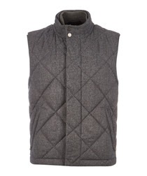 Caano grey virgin wool blend quilt gilet