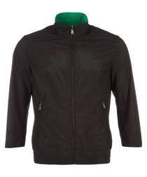 Ciram black & jade reversible jacket