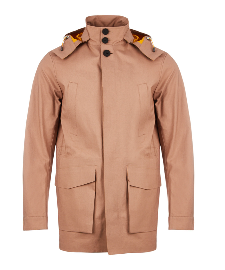 Chaser camel cotton hooded Mackintosh Sale - Hugo Boss