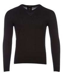 Ettore black pure cashmere jumper