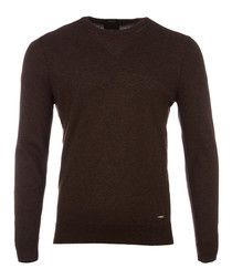 Borello walnut pure cashmere jumper