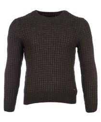 Buccino taupe wool & alpaca jumper