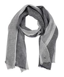 Catolius pewter pure linen scarf