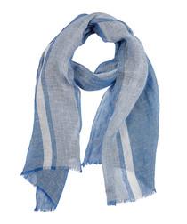Carrir blue pure linen scarf