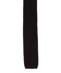 Black pure cotton knitted tie