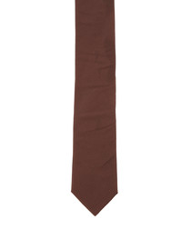 Brown pure silk tie