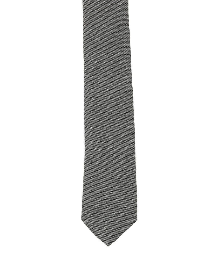 Sage silk & linen tie Sale - hugo boss