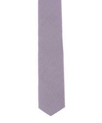 Lavender check pure silk tie