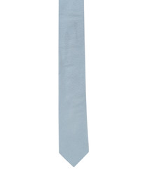 Pastel blue pure silk slim tie