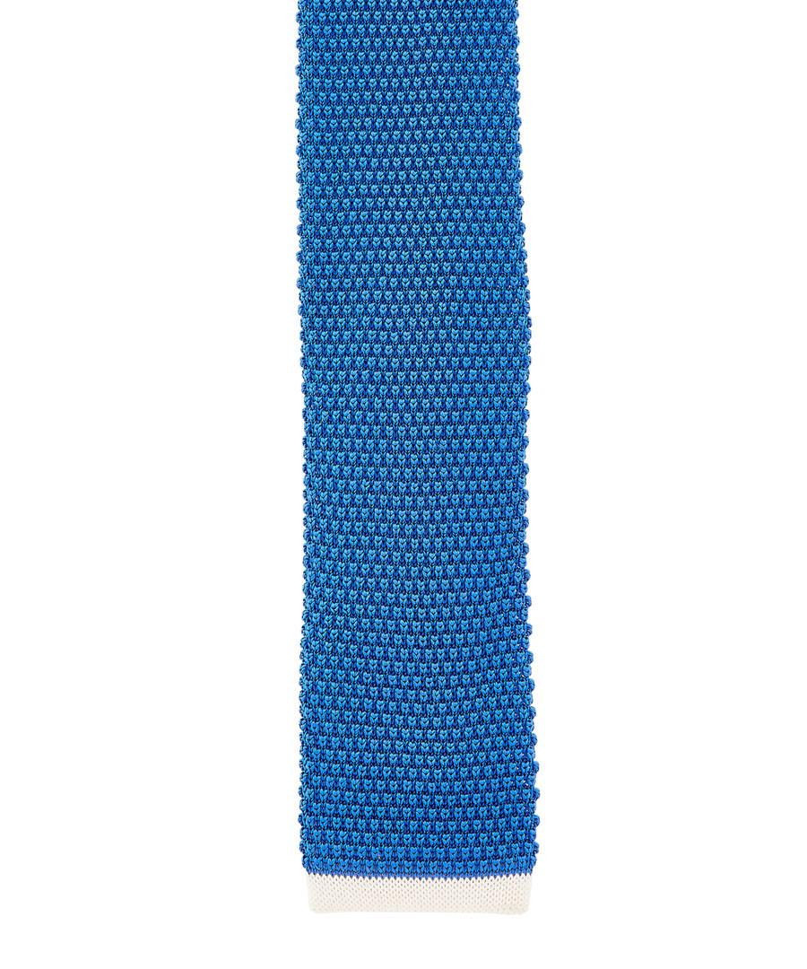 Blue pure silk knitted tie Sale - hugo boss