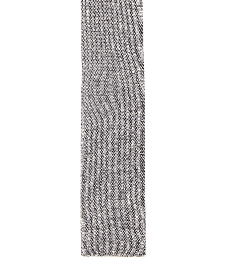 Grey pure silk knitted tie Sale - hugo boss