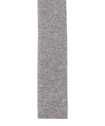 Grey pure silk knitted tie