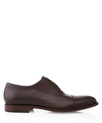 Stolmox walnut leather Derby shoes