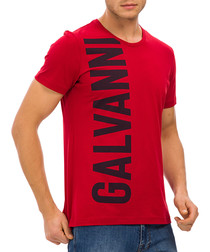 Red pure cotton logo T-shirt