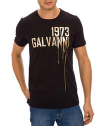 Black pure cotton paint T-shirt