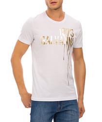 White pure cotton paint T-shirt