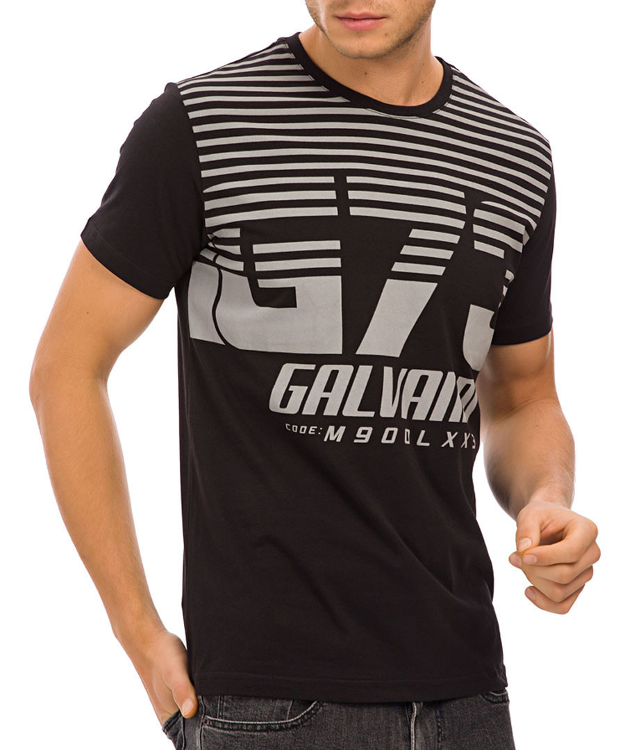 Black pure cotton 73 T-shirt Sale - galvanni