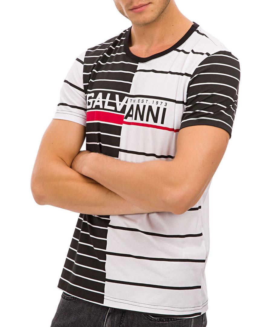 Black & white pure cotton logo T-shirt Sale - galvanni