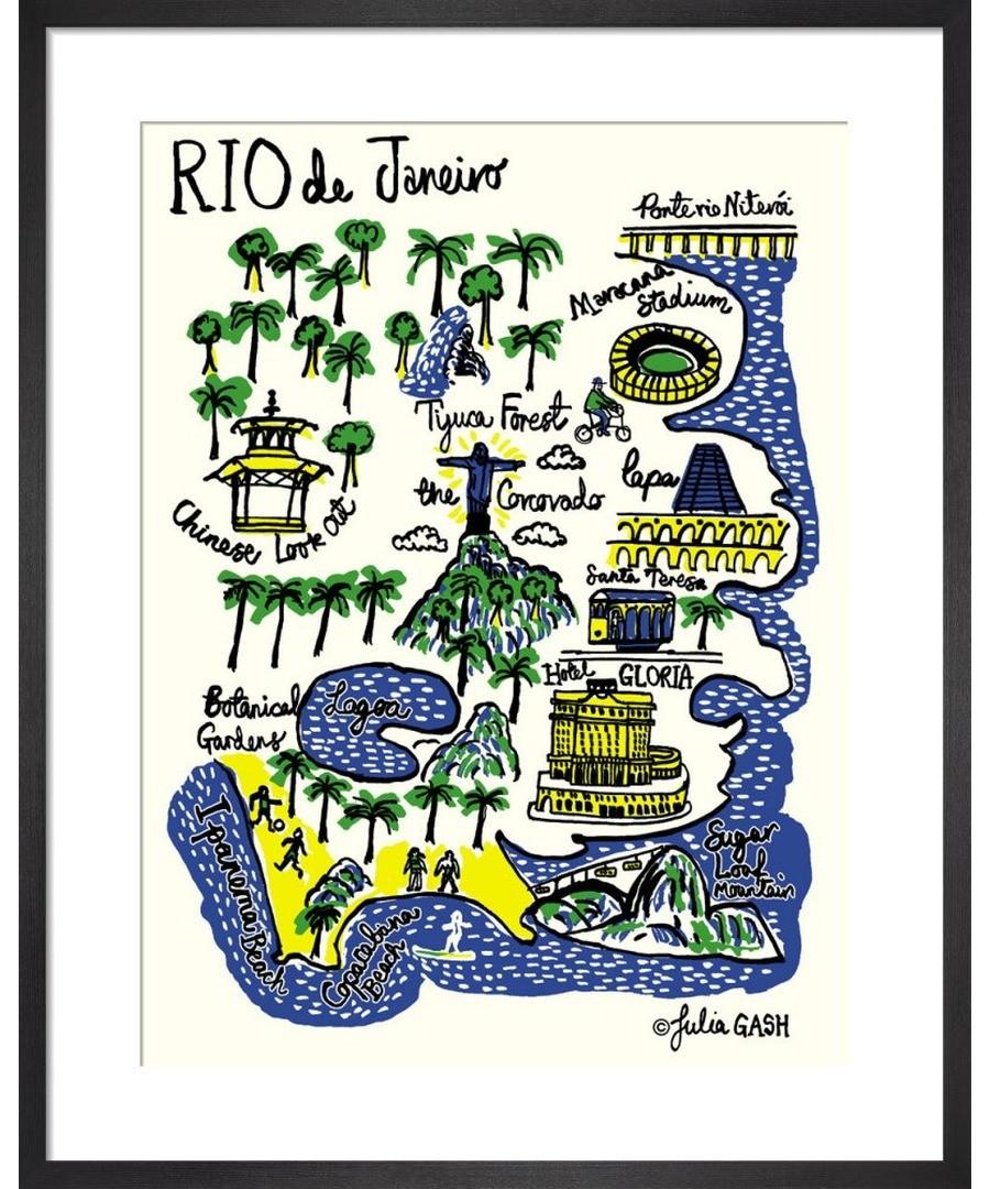 Rio De Janeiro Cityscape by Julia Gash Sale - Julia Gash